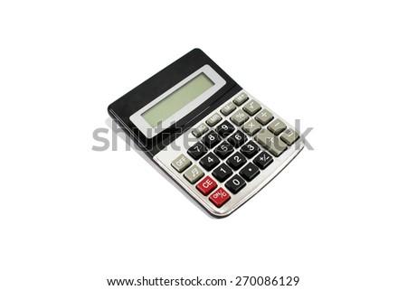 calculator on white background - stock photo