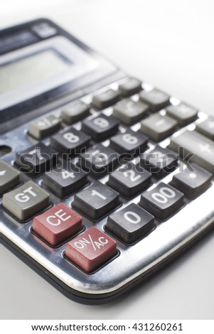 calculator on White background