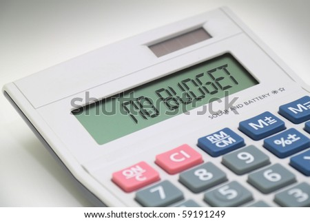 Calculator says NO BUDGET