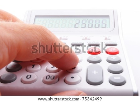 calculator showing business still life or financial accounting concept