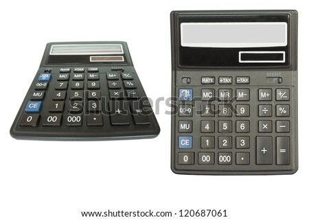 calculator under the white background