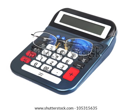 calculator with glasses