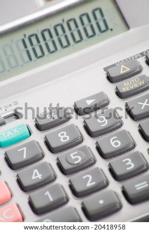 Calculator with number one million