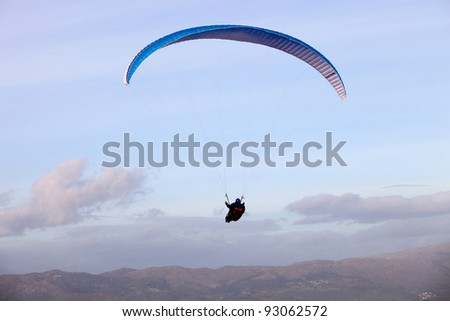 CALDELAS, PORTUGAL - DECEMBER 17: Paragliding Cross-country Portuguese League, in the north of Portugal, December 17, 2011, Caldelas, Portugal.