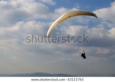 CALDELAS, PORTUGAL - OCTOBER 16: Paragliding Cross-country Portuguese League, in the north of Portugal, October 16, 2010 in Caldelas, Portugal.