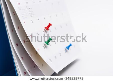 calendar.  - stock photo