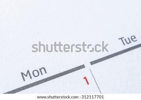 Calendar close-up - stock photo