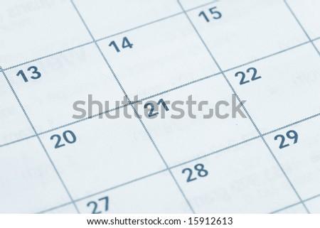 Calendar close up shot for background - stock photo