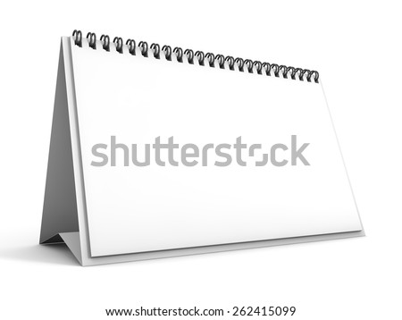 calendar 3D rendering - stock photo