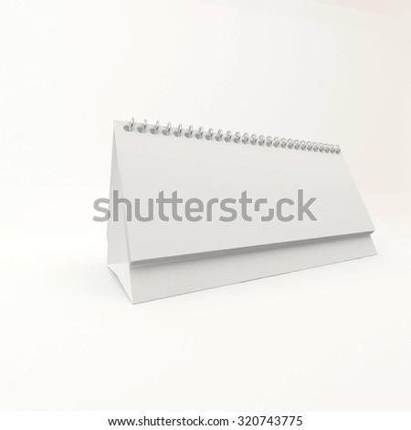 calendar desk on a spring advertising space, 3d render - stock photo