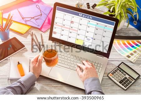 Calendar Events Plan Planner Organization Organize - stock photo