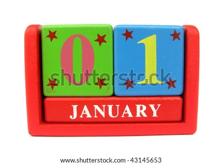 Calendar first day of new year