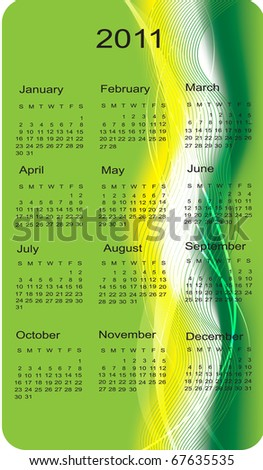 calendar for business cards, illustration
