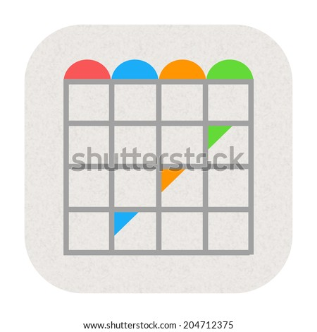 Calendar icon - stock photo