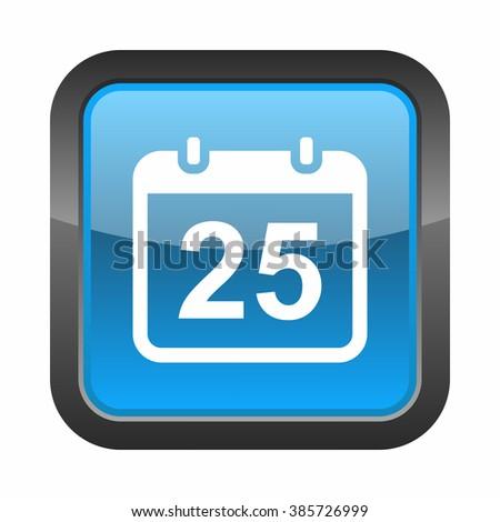Calendar icon - stock photo