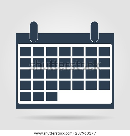 calendar - icon. Flat  illustrator  - stock photo