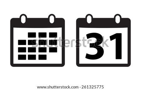 Calendar icon or sign.  - stock photo