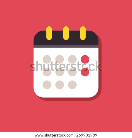 Calendar icon. Signs for smartphones and tablets, web design, websites, app - stock photo