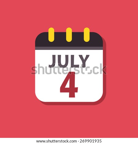 Calendar icon. Signs for smartphones and tablets, web design, websites, app. Holiday. Independence Day - stock photo