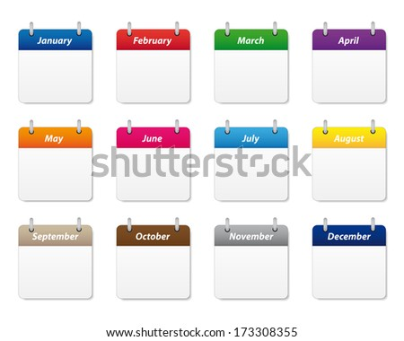 Calendar icons set. Vector available. - stock photo