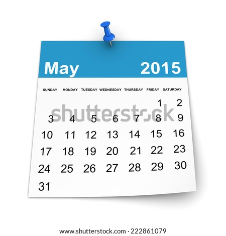 Calendar 2015 - May - stock photo