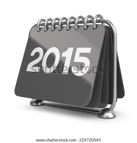 Calendar new year 2015. 3D Icon isolated on white background - stock photo