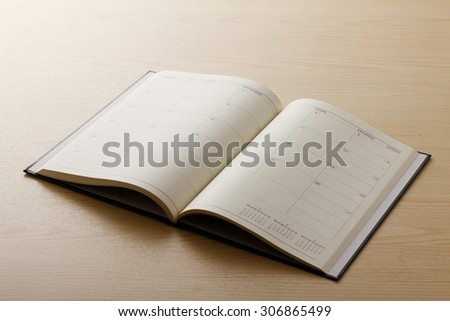 Calendar, notebook, schedule