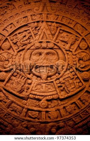 calendar of Mayan Indians - stock photo