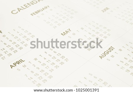 Calendar page background
