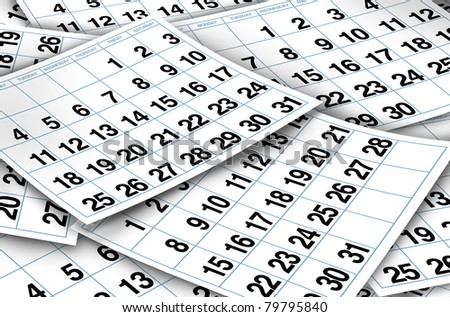 Calendar Pages Representing Time Important Dates Stock ...