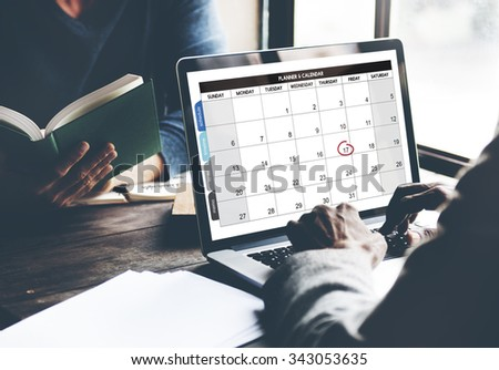 Calendar Planner Organization Management Remind Concept - stock photo