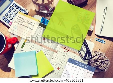 Calendar Planner Planning Organizer Note Concept - stock photo