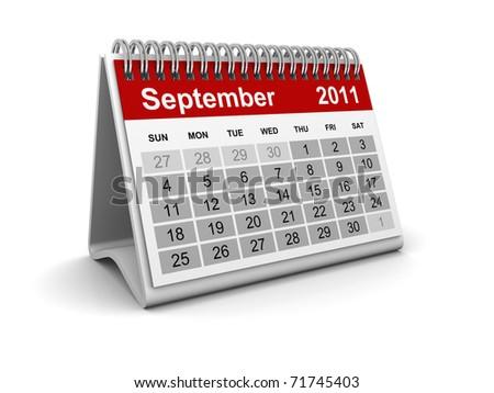 Calendar 2011 - September - stock photo