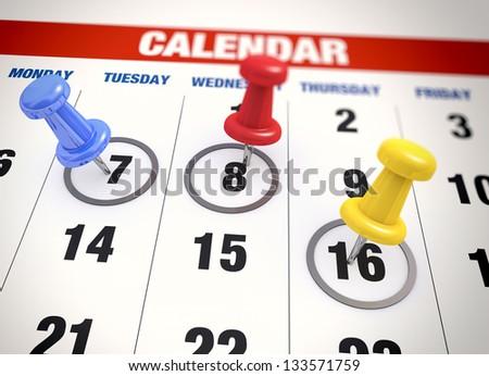 Calendar with check mark - stock photo