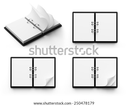 Calendar with copyspace isolated on white background - stock photo