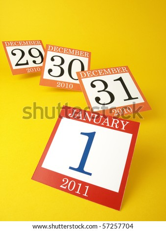 Calendar year-end - stock photo