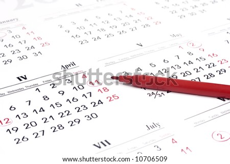 Calender over white background - stock photo