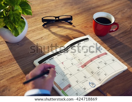 Calender Planner Organization Management Remind Concept - stock photo