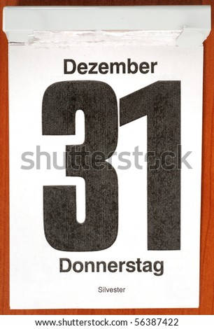 Calender with December 31st - stock photo