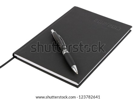 Calender with pen for 2013 year - stock photo