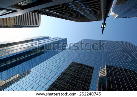 CALGARY ALBERTA, CANADA - JUN 4: Bow Valley Square towering over Calgary on  in Calgary, Alberta Canada. Bow Valley Square is a premiere office property housing oil and pipeline companies.  - stock photo