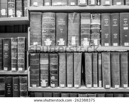 CALGARY, ALBERTA - MAR 7: The Law Library of the Faculty of Law at the University of Calgary om March 7, 2015 in Calgary, Alberta Canada. This modern Law Library houses cases and statues of Canada. - stock photo