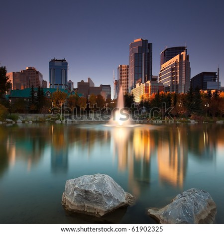 Calgary Downtown from Princess Island