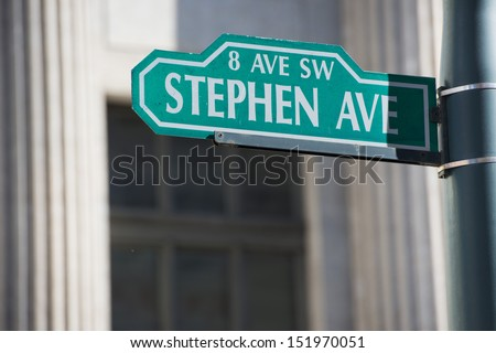Calgary Stephen Ave sign