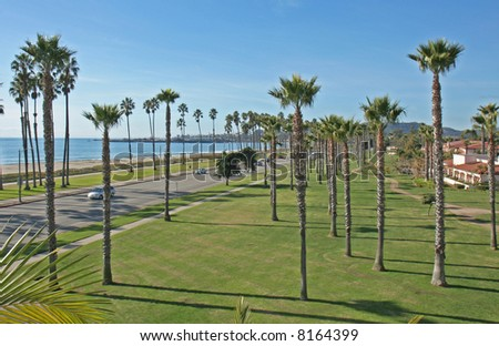 California Beach scenic - stock photo