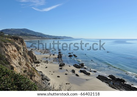 California Carpinteria Coast - stock photo