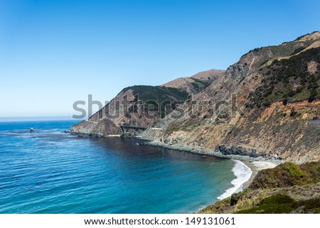 California Central coast South of Carmel - stock photo