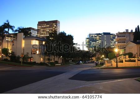 California city night - stock photo