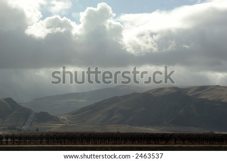California clouds - stock photo