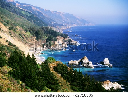 California coast at Big Sur - stock photo